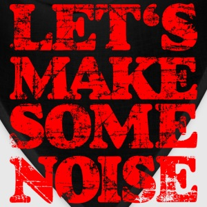 LET'S MAKE SOME NOISE T-Shirt (Women Black/Red) - Bandana
