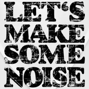 LET'S MAKE SOME NOISE T-Shirt (Women Gray/Black) - Bandana