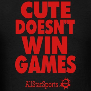 CUTE DOESN'T WIN GAMES Hoodies - Men's T-Shirt