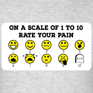 Rate Your Pain Crew Neck - Men's T-Shirt