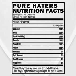 Haters Nutrition Facts T-Shirt & Apparel T-Shirts - Bandana