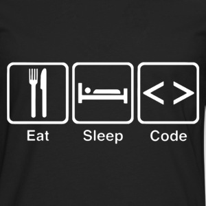 eat sleep code - Men's Premium Long Sleeve T-Shirt