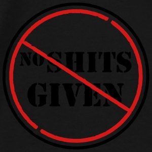 no shits given Bags & backpacks - Men's Premium T-Shirt