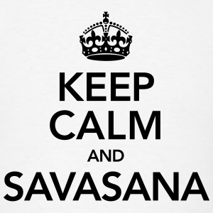 Keep Calm And Savasana Tank Tops - Men's T-Shirt