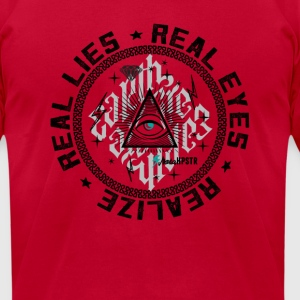 Real Eyes Realize  - Men's T-Shirt by American Apparel