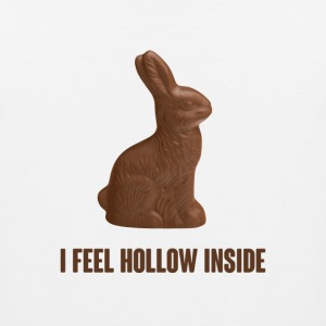 I Feel Hollow Inside Chocolate Easter Bunny T-Shirts - Men's Premium Tank