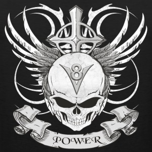 V8 logo with skull in tattoo style T-Shirts - Men's Premium Tank