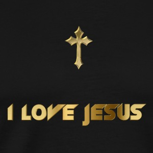 I love Jesus Tanks - Men's Premium T-Shirt