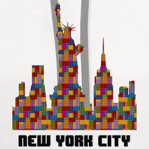 Statue of Liberty New York City Skyline Lego - Contrast Hoodie