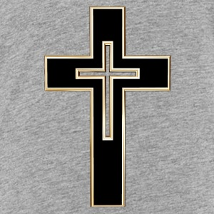 Black Christian cross Sweatshirts - Toddler Premium T-Shirt