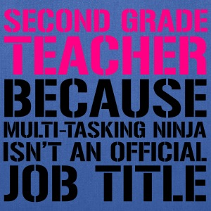Ninja Second Grade - Teachers T-Shirts Women's T-Shirts - Tote Bag