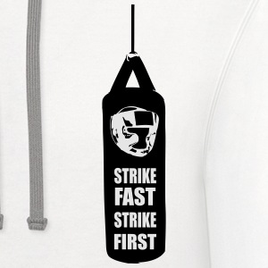 Strike Fast Strike First T-Shirts - Contrast Hoodie