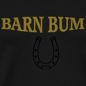 Barn bum flow tank horseshoe - Men's Premium T-Shirt