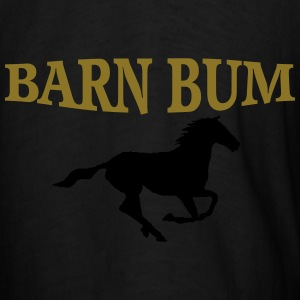 Barn Bum legging with horse gold n white - Men's T-Shirt