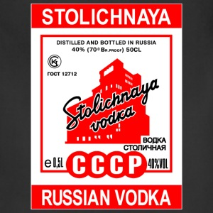 Stolichnaya Russian Vodka USSR Soviet Tag label - Adjustable Apron