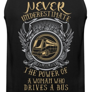 Power of a woman who drives a BUS! - Men's Premium Tank