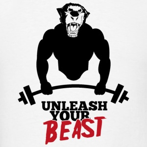 Unleash your beast bodybuild Hoodies - Men's T-Shirt