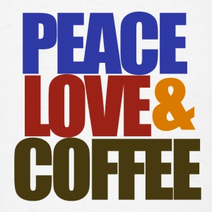 PEACE love and coffee - Men's T-Shirt