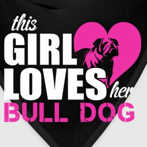 Bulldog love Women's T-Shirts - Bandana