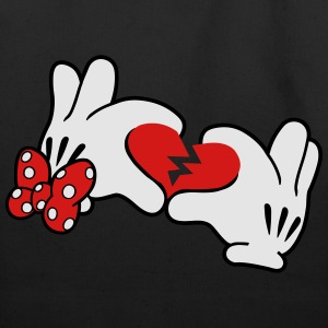 Mickey Broken Heart 2 T-Shirts - Eco-Friendly Cotton Tote