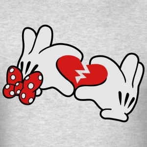 Mickey Broken Heart 2 Long Sleeve Shirts - Men's T-Shirt