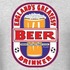 England's Greatest Beer Drinker Hoodie - Men's T-Shirt