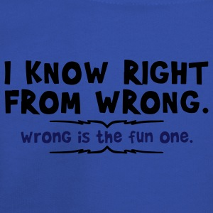 right from wrong T-Shirts - Kids' Premium Hoodie