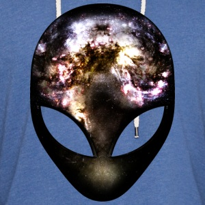 Cosmic Alien T-Shirts - Unisex Lightweight Terry Hoodie