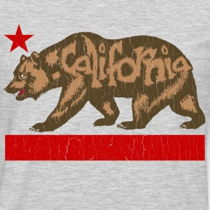 Fuzzy California State Bear (distressed look) - Men's Premium Long Sleeve T-Shirt