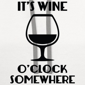 It's Wine O'Clock Somewhere - Contrast Hoodie