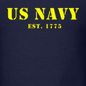 US Navy est. 1775 Men's Hooded Sweat Shirt - Men's T-Shirt