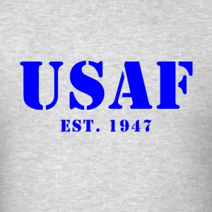 US Air Force USAF Est 1957 Men's Hooded Sweat Shir - Men's T-Shirt