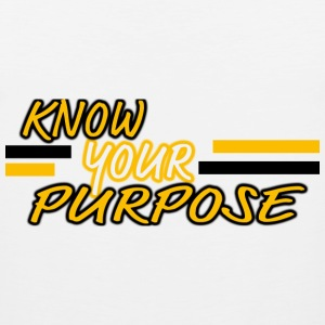 Know Your Purpose Long Sleeve Shirts - Men's Premium Tank