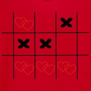 Tic Tac Toe hearts in love game vintage drawing Wo - Unisex Fleece Zip Hoodie by American Apparel