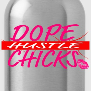 Dope Chicks Hustle Pink Kiss Long Sleeve Shirts - Water Bottle