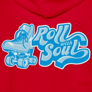 Roll With Soul Vintage - Unisex Fleece Zip Hoodie by American Apparel