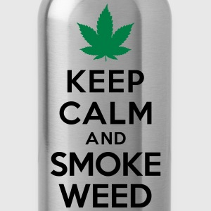 Keep calm and smoke weed T-Shirts - Water Bottle