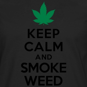 Keep calm and smoke weed T-Shirts - Men's Premium Long Sleeve T-Shirt