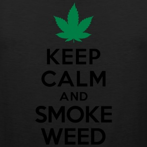 Keep calm and smoke weed T-Shirts - Men's Premium Tank