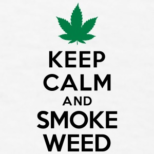 Keep calm and smoke weed Mugs & Drinkware - Men's T-Shirt