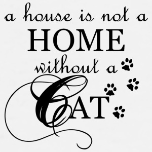 A House is not a Home without a Cat - Men's Premium T-Shirt