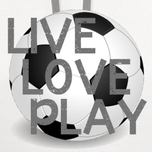 Live Love Play Soccer T-Shirts - Contrast Hoodie