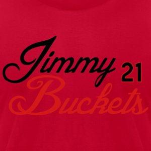 Jimmy Buckets Script Shirt Long Sleeve Shirts - Men's T-Shirt by American Apparel