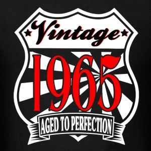Aged to Perfection Vintage 1965 Birthday T Shirt - Men's T-Shirt