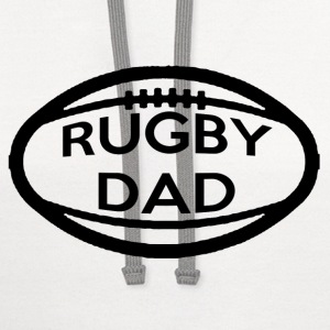 Rugby Dad T-Shirts - Contrast Hoodie