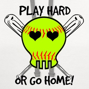 Play Hard or Go Home - Softball T-Shirts - Contrast Hoodie