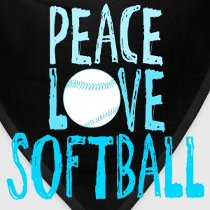 Peace, Love, Softball T-Shirts - Bandana