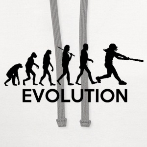 Evolution of a Softball Players T-Shirts - Contrast Hoodie