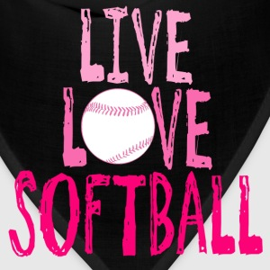 Live, Love, Softball T-Shirts - Bandana