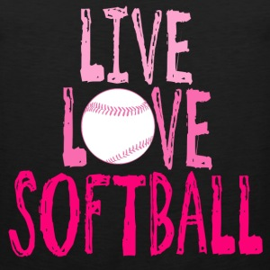 Live, Love, Softball T-Shirts - Men's Premium Tank